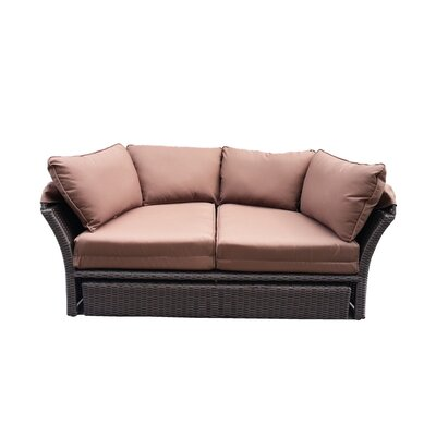 Kerem Loveseat with Cushions Fabric: Brown