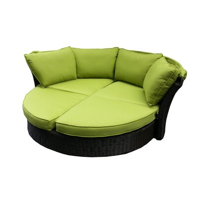 Kerem Loveseat with Cushions Fabric: Green