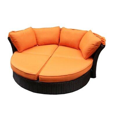Kerem Loveseat with Cushions Fabric: Orange