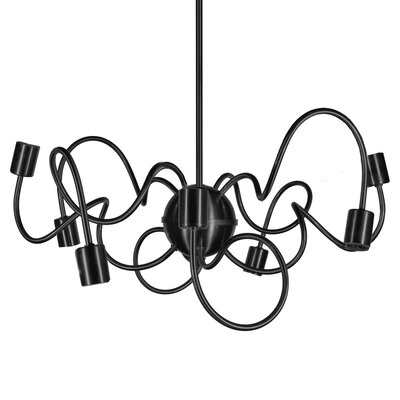 Debussy 8-Light Steel Sputnik Chandelier