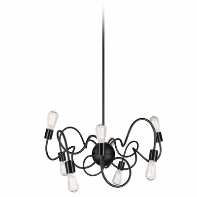 Debussy 8-Light 60W Steel Geometric Pendant