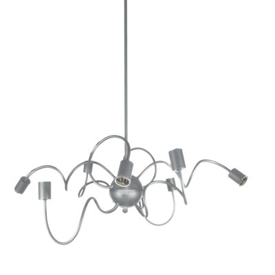 Debussy 8-Light 60W Steel Sputnik Chandelier
