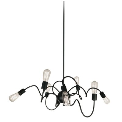 Debussy 8-Light Steel Geometric Pendant