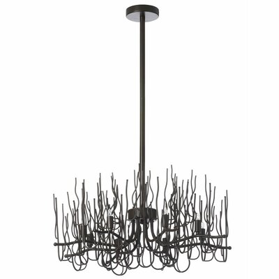 Heracles 8-Light Sputnik Chandelier Finish: Espresso