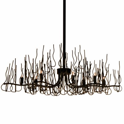 Heracles 8-Light Sputnik Metal Chandelier Finish: Espresso