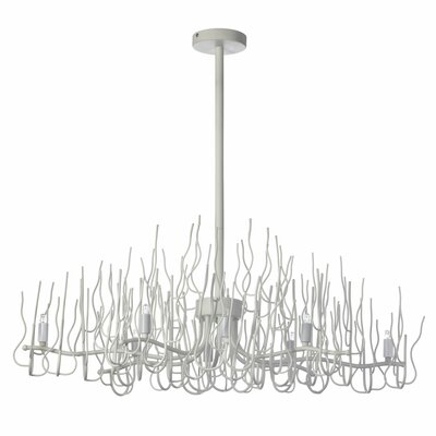 Heracles 8-Light Sputnik Metal Chandelier Finish: Matte White