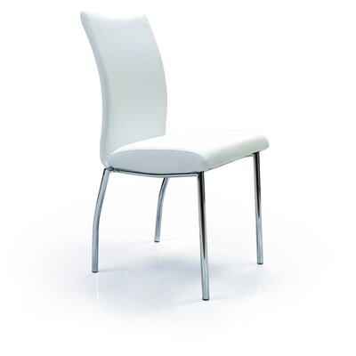 Bosarge Upholstered Dining Chair (Set of 4) Upholstery: White
