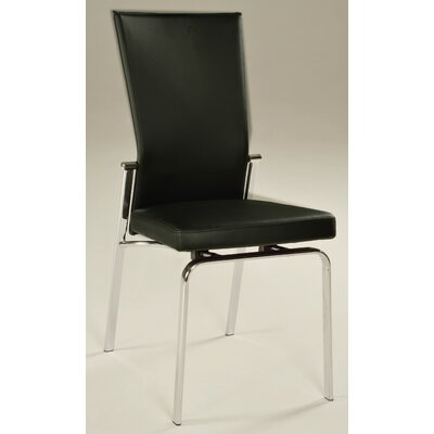 Molly Side Chair (Set of 2) Side Chair Upholstery: Black