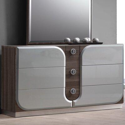 Kyrie 6 Drawer Standard Dresser
