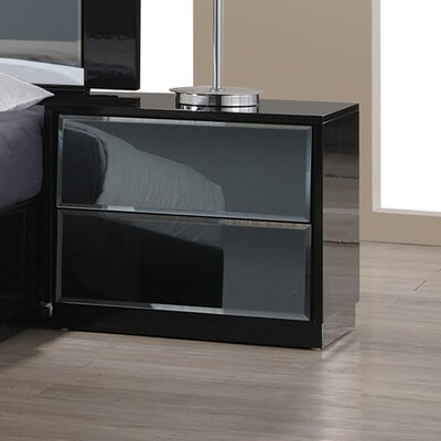 Yaseen 2 Drawer Nightstand