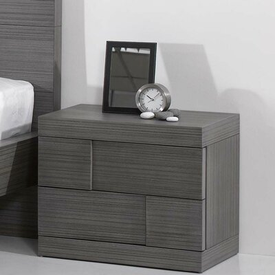 Yusuf 2 Drawer Nightstand
