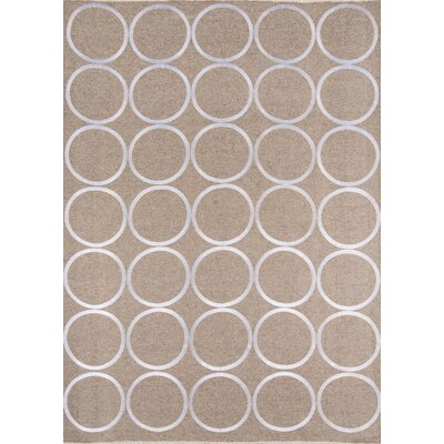 Pante Macassar Hand-Woven Natural/White Area Rug Rug Size: Rectangle 2 x 3