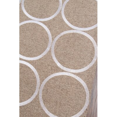 Luca Hand-Woven Natural/White Area Rug Rug Size: 8 x 10
