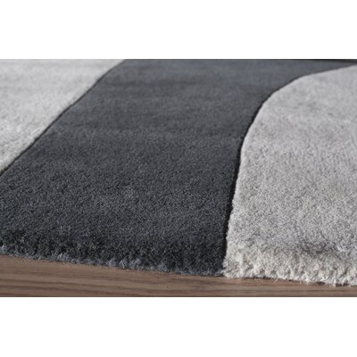 Miller Hand-Tufted Black/White Area Rug Rug Size: Runner 23 x 8