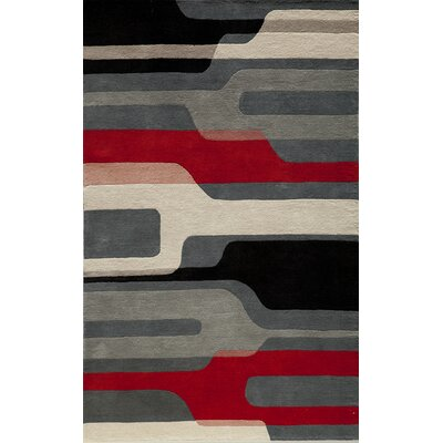 Miller Hand-Tufted Gray Area Rug Rug Size: 8 x 10