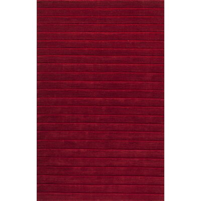 Walker Hand-Tufted Red Area Rug Rug Size: 5 x 8