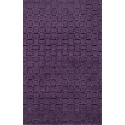 Walker Hand-Tufted Plum Area Rug Rug Size: 33 x 53