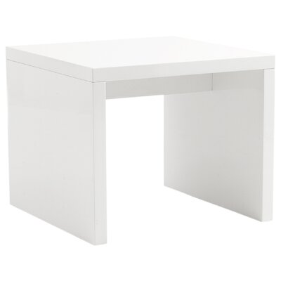 Bensenville Contemporary End Table End Table Color: White