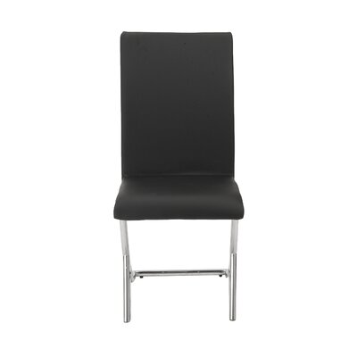 Bensenville Upholstered Dinnig Chair (Set of 4) Color: Black