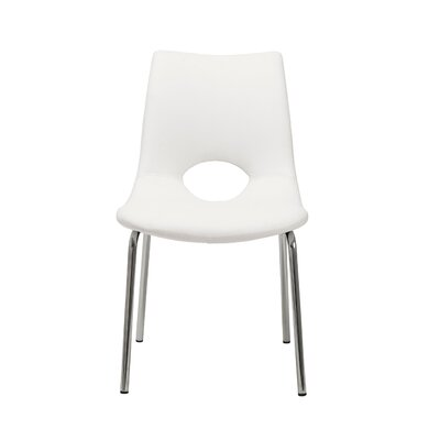 Bensenville Upholstered Dining Chair Color: White