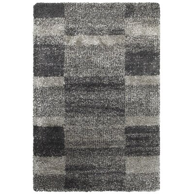 Leonard Gray/Charcoal Area Rug Size: Rectangle 67 x 96