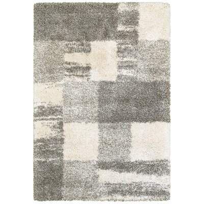 Leonard Ivory/Gray Area Rug Size: Rectangle 53 x 76