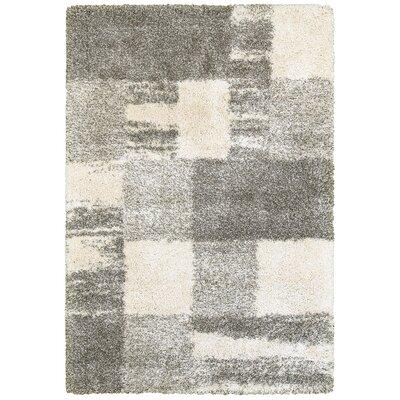 Leonard Ivory/Gray Area Rug Size: 910 x 1210