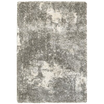 Leonard Gray/Ivory Area Rug Size: Rectangle 53 x 76