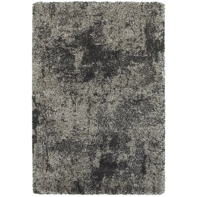 Leonard Gray/Charcoal Area Rug Size: Rectangle 110 x 33