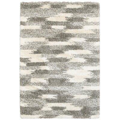 Leonard Gray/Ivory Area Rug Size: 53 x 76