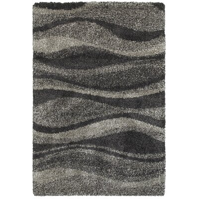 Leonard Gray/Charcoal Area Rug Size: Rectangle 53 x 76