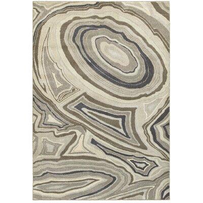 Leonidas Ivory/Gray Area Rug Size: 310 x 55