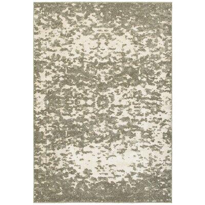 Leonidas Ivory/Gray Area Rug Size: 53 x 76