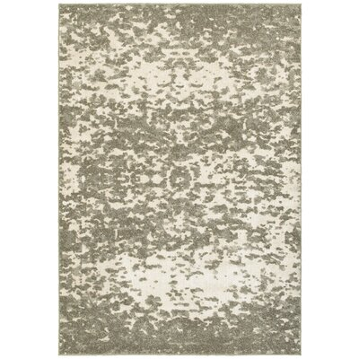 Leonidas Ivory/Gray Area Rug Size: 910 x 1210
