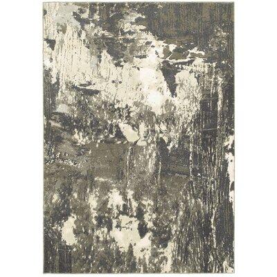 Leonidas Gray/Ivory Area Rug Size: 53 x 76