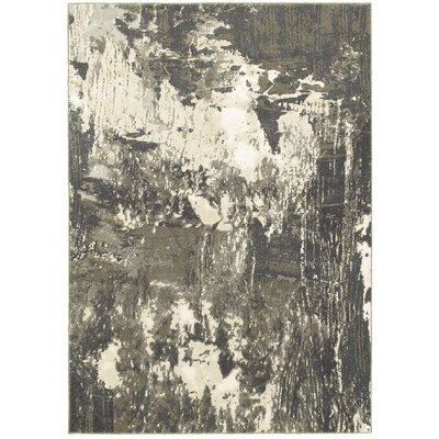 Leonidas Gray/Ivory Area Rug Size: 910 x 1210
