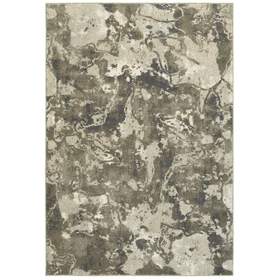 Leonidas Gray/Ivory Area Rug Size: Rectangle 53 x 76