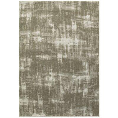 Leonidas Gray/Ivory Area Rug Size: 67 x 96