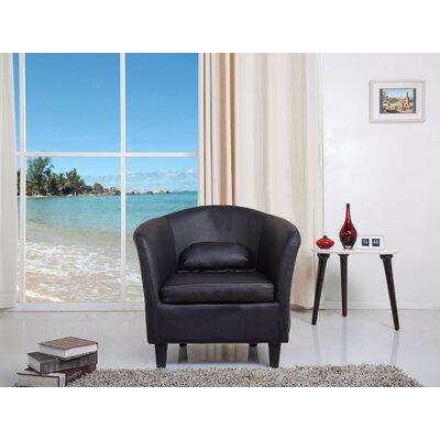 Blume Barrel Chair Upholstery: Black