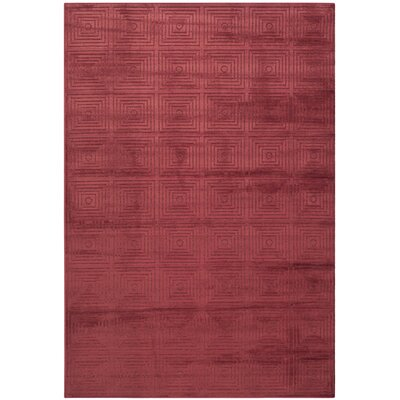 Lucian Red/Red Area Rug Rug Size: Rectangle 27 x 4