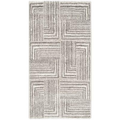 Linneman Contemporary Light Grey/Dark Grey Area Rug Rug Size: 2 x 37