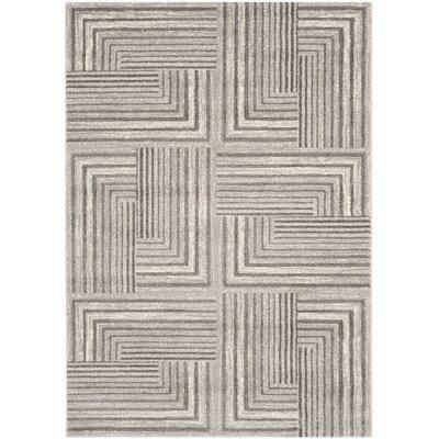 Linneman Contemporary Light Grey/Dark Grey Area Rug Rug Size: 4 x 57