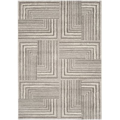 Linneman Contemporary Light Grey/Dark Grey Area Rug Rug Size: 53 x 77