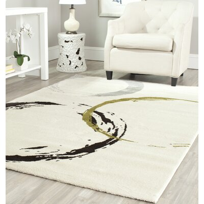 Kenzo Ivory Area Rug Rug Size: Rectangle 4' x 5'7