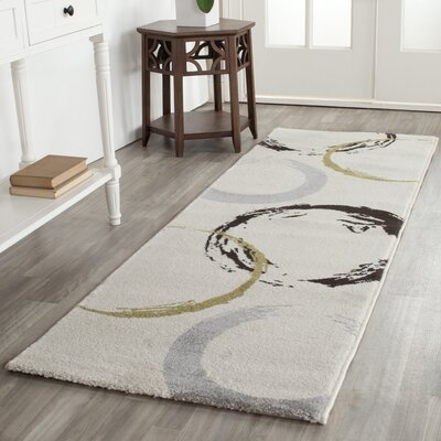 Kenzo Ivory Area Rug Rug Size: Rectangle 27 x 5