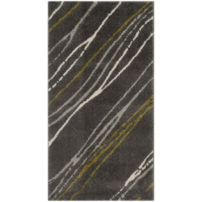 Kenzo Dark Gray Area Rug Rug Size: Rectangle 2 x 37