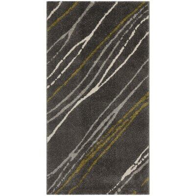Kenzo Dark Gray Area Rug Rug Size: 2 x 37