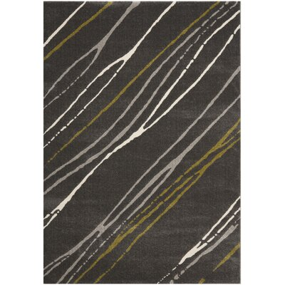 Kenzo Dark Gray Area Rug Rug Size: 53 x 77