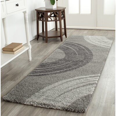 Kenzo Light Gray Area Rug Rug Size: Runner 24 x 67