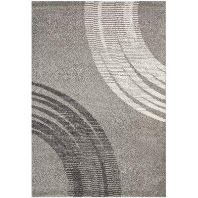 Kenzo Light Gray Area Rug Rug Size: 53 x 77